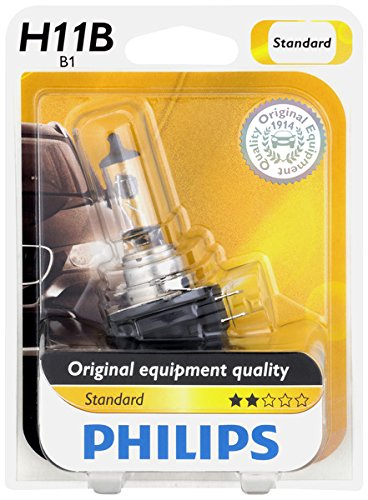 Philips 12363B1 H11B Standard Headlight Bulb, 1 Pack ()