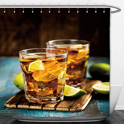 Cola Gazebo (Beshowere Shower Curtain cuba libre or long island iced tea cocktail with strong drinks cola lime and ice in glass cold)
