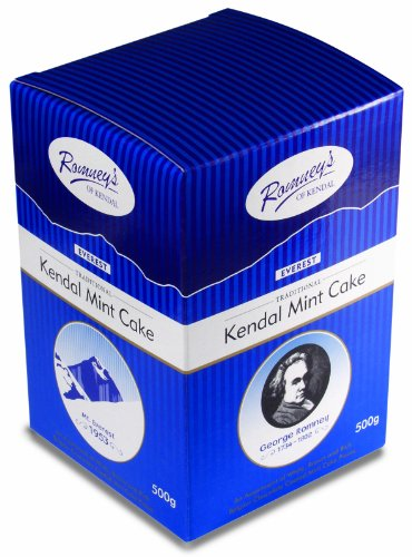ROMNEY'S OF KENDAL Everest Cube - An assortment of White, Brown and Rich Belgian Chocolate coated Mint Cake pieces 500g / 17.63oz (Chocolate Cake 500g)