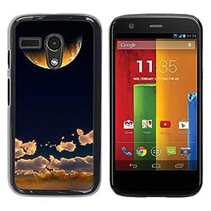 El sol sobre la hierba - Metal de aluminio y de plástico duro Caja del teléfono - Negro - Motorola Moto G 1 1ST Gen