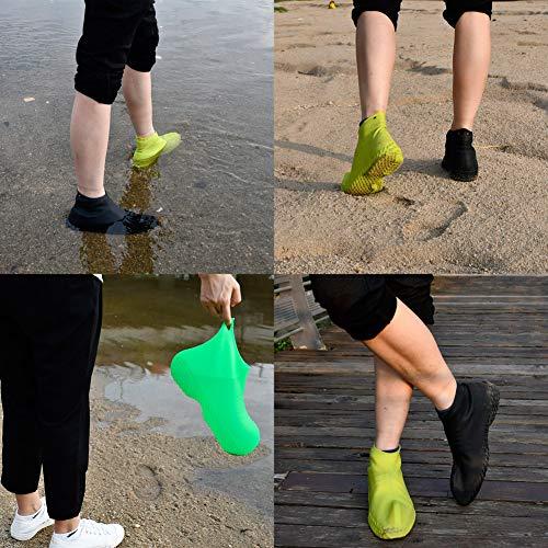 0160e481b25ab LEGELITE Reusable Silicone Boot and Shoe Covers, Waterproof Rain Socks,  Silicone Rubber Shoe Protectors (Black, L)