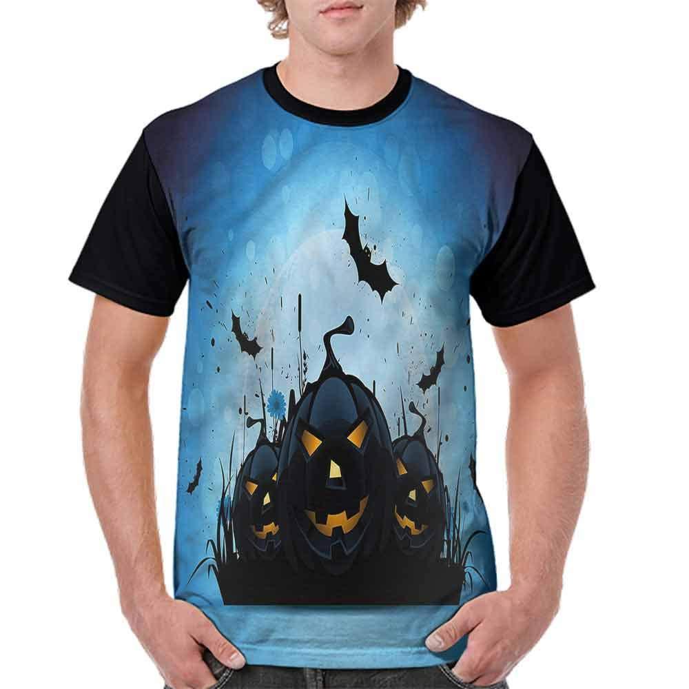 Loose T Shirt,Scary Pumpkin Fashion Personality Customization