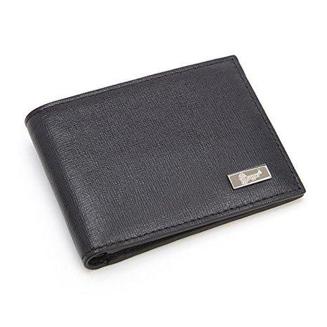 Leather Saffiano Bi Fold Wallet (Royce Leather Rfid Blocking Menõs Bifold Credit Card Wallet in Saffiano Leather, Black)