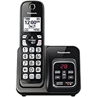Cordless Telephones Landline, Black Panasonic Office Home Landline Telephone