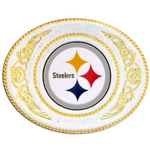 Steelers Buckle (NFL Pittsburgh Steelers 2 Toned Buckle)