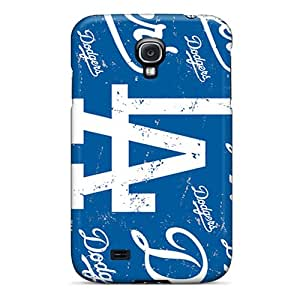 Durable Defender Case For Galaxy S4 Tpu Cover(los Angeles Dodgers)
