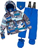 Deux par Deux Little Boys' 2-Piece Snowsuit Mountains are Calling, Sizes 18-36M - 36M