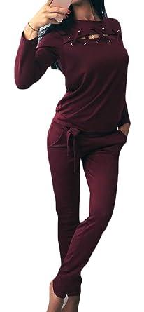 X-Future - Chándal - para mujer rojo rojo vino Small: Amazon.es ...