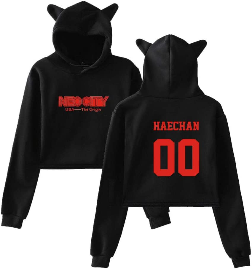 NCT 127 Merchandise Hoody Kpop Clothes Cropped Hooded with Ears