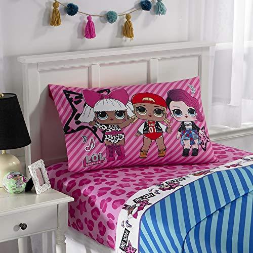 Price comparison product image L.O.L. Surprise! Kids Bedding Soft Microfiber Sheet Set, Pink Blue-Twin Size 3 Piece Pack