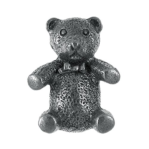 Teddy Bear With Bow Pewter Lapel Pin (Bears Teddy Pewter)