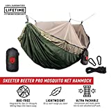 Grand Trunk Skeeter Beeter Pro Mosquito Hammock: Portable Bug Prevention Hammock with Carabiners and Hanging Kit - Perfect for Outdoor Adventures, Backpacking, and Camping Trips, Olive Green/Khaki