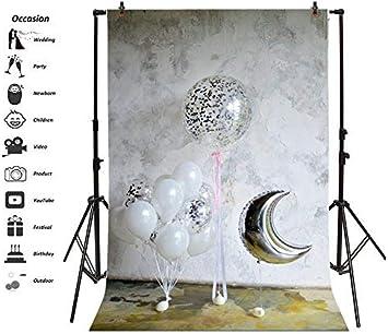 GzHQ 3x5ft Happy Birthday Party Telón Fondo Fiestas para niños Eventos Globos Decoración la habitación Fondo Pantalla Niños Niñas Baby Cake Smash Telones Fondo para fotografía Photo Studio Props: Amazon.es: Electrónica
