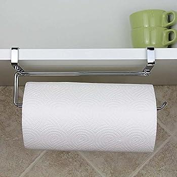 Delightful Paper Towel Hanger Holder, Stainless Steel Kitchen Roll Paper Towel Holder  Tissue Hanger Organizer Rack