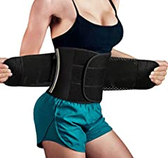 Maximize your workouts and look great at the same time. TrainingGirl new waist trimmer belt reduces 1-3 inches from your waistline which instantly sculpts an hourglass silhouette. With an easy-on closure design, the waist slimmer belt is adju...