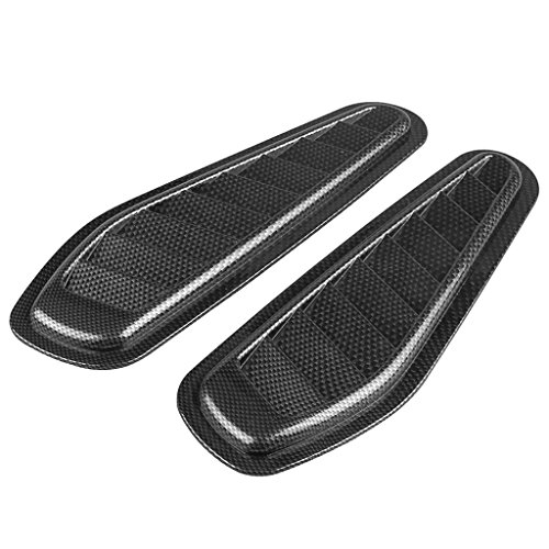 - MagiDeal Pair Universal Car Decorative Air Flow Hood Scoop Bonnet Vent Cover - Carbon Fiber