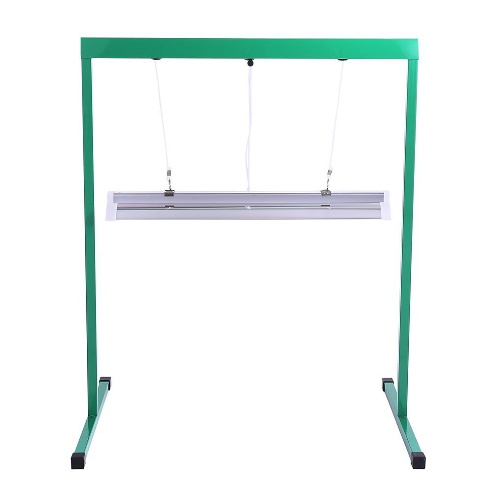 iPower 24W 2 Feet T5 Fluorescent Grow Light Stand Rack for Seed Starting Plant Growing, 6400K by iPower