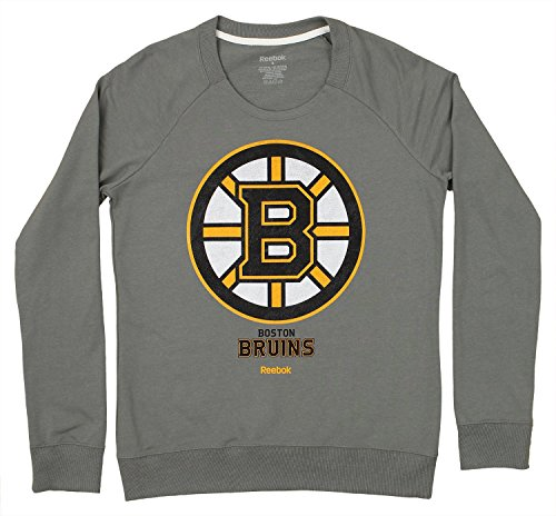 Boston Bruins Women's NHL Reebok French Terry Pullover Crew Sweatshirt
