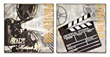 Pack of 8 Classic Movie Plaques 10.5''