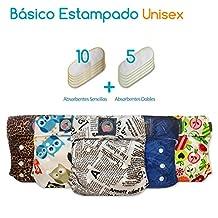 Pañales Ecológicos My Little Baby Paquete Básico Unitalla Estampado UNISEX