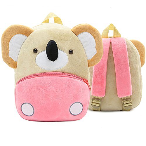 White Dolphin Cute Toddler Backpack,Cartoon Cute Animal Plush Backpack Toddler Mini School Bag for Kids Age 1-5 Years Old -