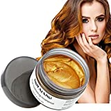 MOFAJANG Hair Coloring Dye Wax, Orange Gold Instant Hair Wax, Temporary Hairstyle Cream 4.23 oz, Hair Pomades, Natural Hairstyle Wax for Men and Women Party Cosplay