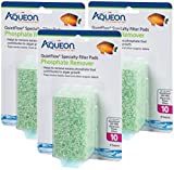 QuietFlow (3 Pack) Aqueon Phosphate Remover Specialty Filter Pads, Size 10, 4 Pads Per Pack