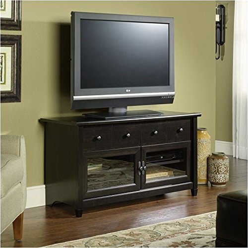 042666133005 - Sauder Edge Water Panel TV Stand, Estate Black Finish carousel main 0