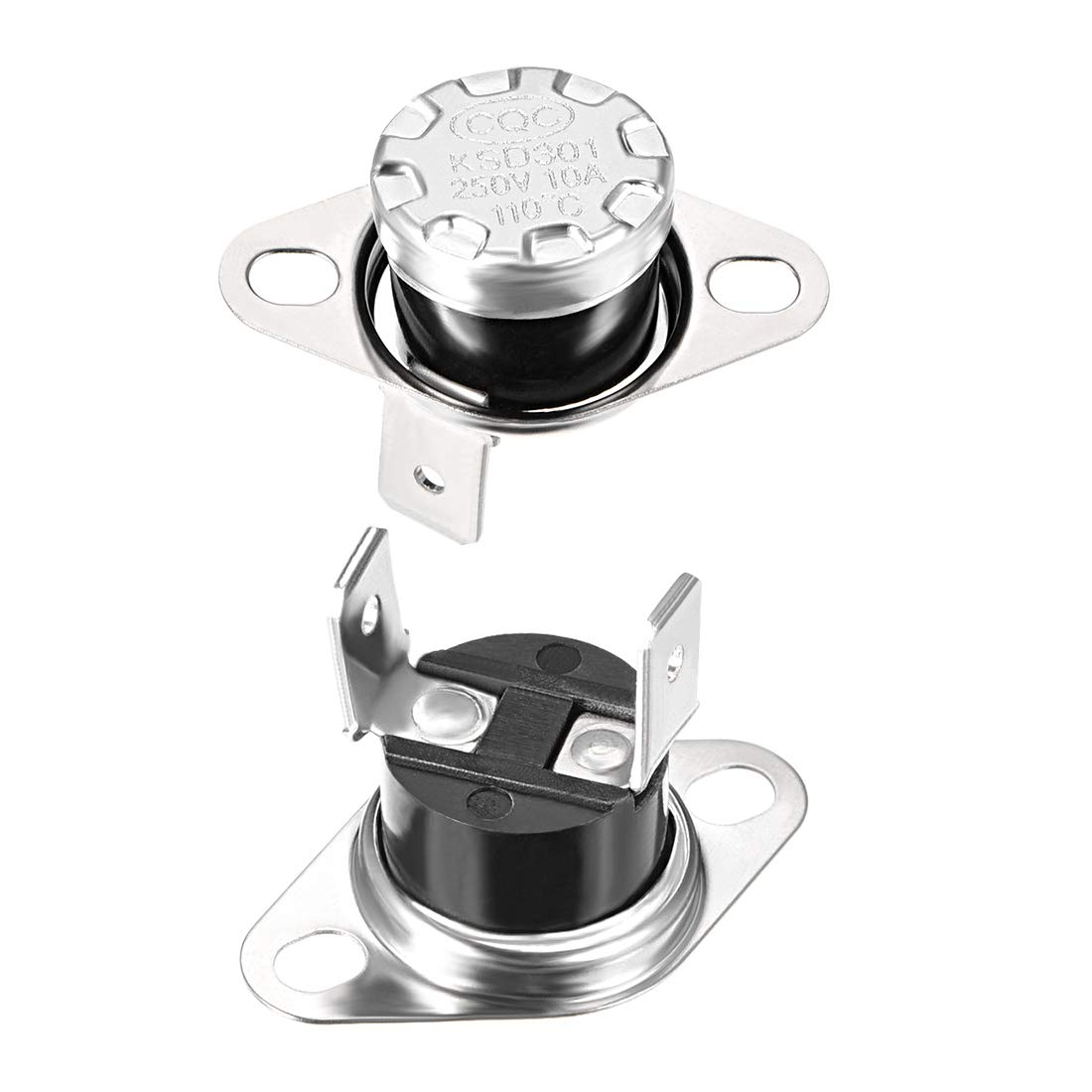 Adjust Snap Disc Limit Control Switch Microwave Thermostat Thermal Switch 140/°C 10A Normally Closed N.C 2pcs uxcell KSD301 Thermostat