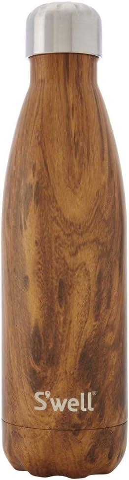 S'well LWB-TEAK01 WWB-TEAK01 Insulated, TripleWalled Stainless Steel Water Bottle, Teakwood in 25oz, 25 oz