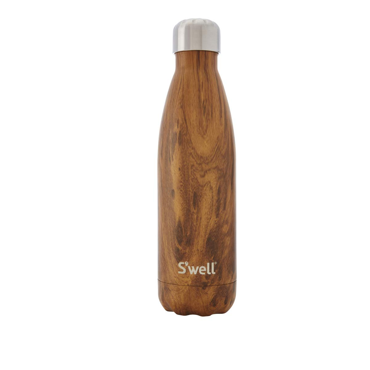 S'well Vacuum Insulated Stainless Steel Water Bottle, 17 oz, Teakwood