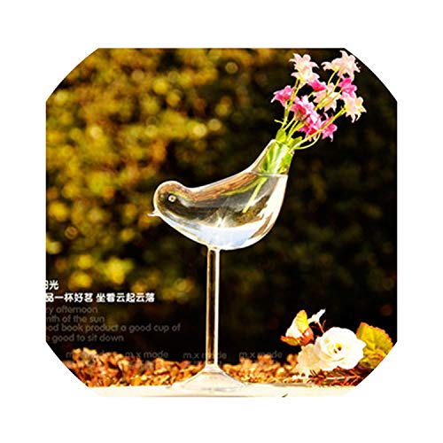 Vases Italian Square - shiny star show Tall Bird Vase Gl Vase Home Decoration Hotel Decor Flower Containers Wedding Decoration Gift Couple Gifts,A