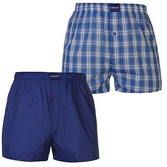 2b42d929c12577 Kangol Mens Woven Boxer Shorts Pack Of 2 Trunks Underwear Accessories Denim  M: Amazon.co.uk: Clothing