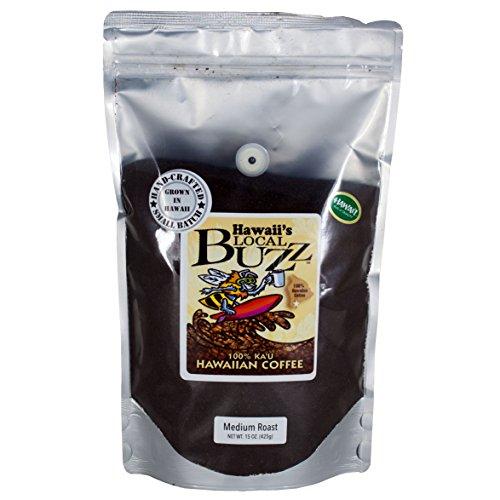 Hawaii's Local Buzz Ground Coffee, Medium Roast, 15 Ounce