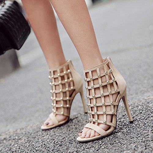 89d31009 Sandalias Romanas Para Mujer Verano Sandalias Sandalias De Gladiador  Sandalias De Tacón Alto Peep Toe Barato