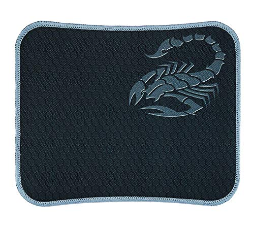 RiaTech Water Resistance Coating Natural Rubber Gaming Mouse Pad with Stitched Embroidery Edges and Non Slippery Rubber Base – (29.5 x 23 x 0.2 cm) Grey