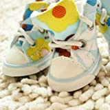 Dog's Footwear Pet's Cute Sneakers Animal Shoes Blue Color way-Size 3