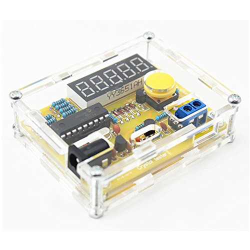 JCOLI 1Hz-50MHz Frequency Counter Meter Crystal Measurement DIY Kit with Shell - Frequency Counter Kits