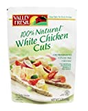 Valley Fresh 100% Natural White Chicken Cuts, 7oz Pouch (Pack of 6) by Valley Fresh