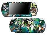 Ben Ten 10 Ultimate Alien Omnitrix Tennyson Video Game Vinyl Decal Skin Sticker Cover for Sony PSP Playstation Portable Slim 3000 Series System