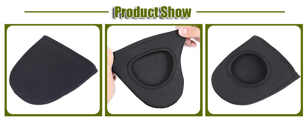Naisicatar Outdoor Cycling Bike Shoe Toe Cover Warm Protector Paired Nylon Black