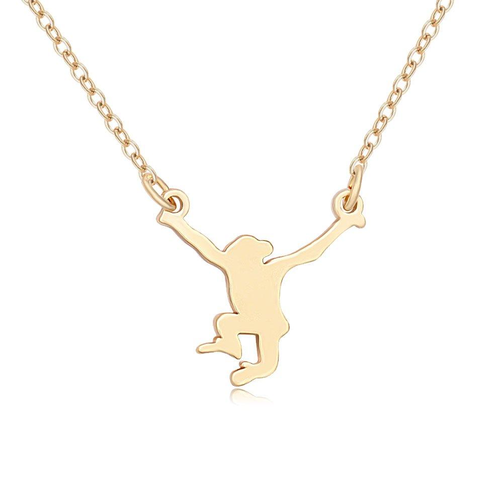 MANZHEN Tiny Lovely Hanging Monkey Animal Charm Pendant Necklace