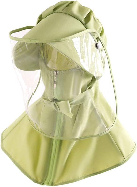 SDBRKYH Protectora de la Capilla, Chal Cap Máscara de Polvo Protector Solar Cap Completa protección Facial de múltiples Funciones del Viaje Equipos de Protección Individual,E,3PCS