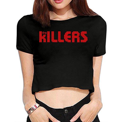 TLK Custom Women The Killers Band Logo Midriff Tshirt ()