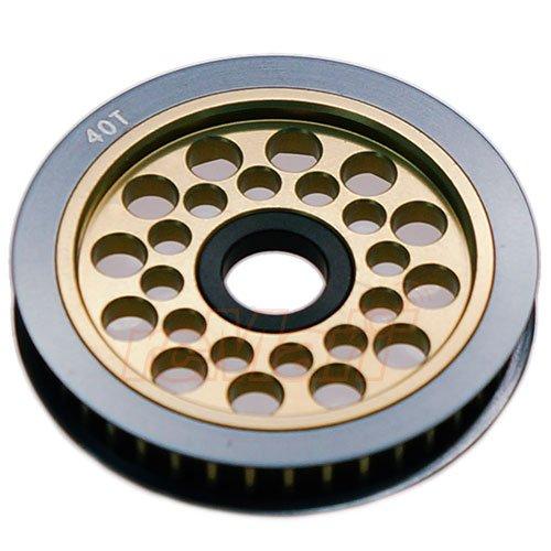 3Racing Aluminum Differential Pulley Gear T40 For Sakura D3 Unimate #3RAC-3PY/40 ()