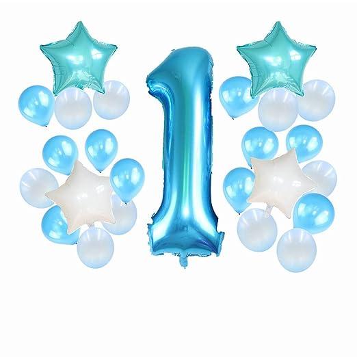 YUTALOW Juego de Globos de cumpleaños para bebé de un año de ...
