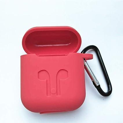 VALUEU - Auriculares inalámbricos con Bluetooth para Apple con protección contra los Airpods Rojo Rosso