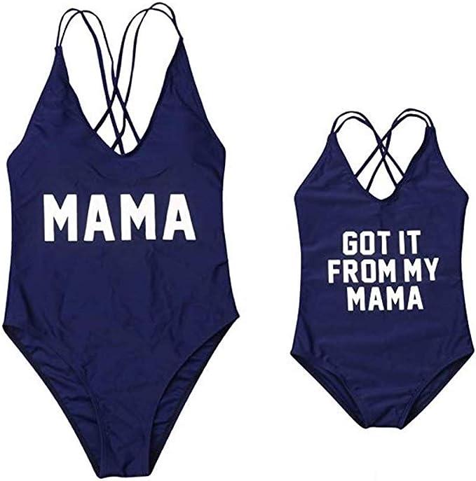 Amazon.com: Mamá y yo traje de baño familiar a juego bebé ...