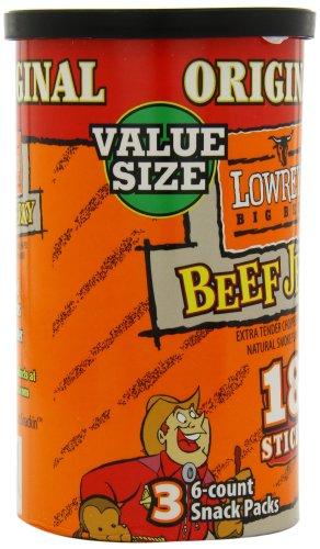 Lowrey's Original Beef Jerky Sticks, 18 Count (Pack of 8)