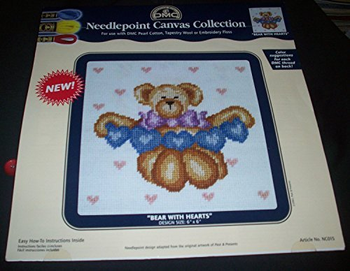 """Bears with Heart"" Needlepoint Canvas Collection"